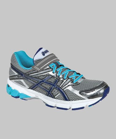 Titanium Turquoise GT-1000 PS Running Shoe - Girls by ASICS on #zulily