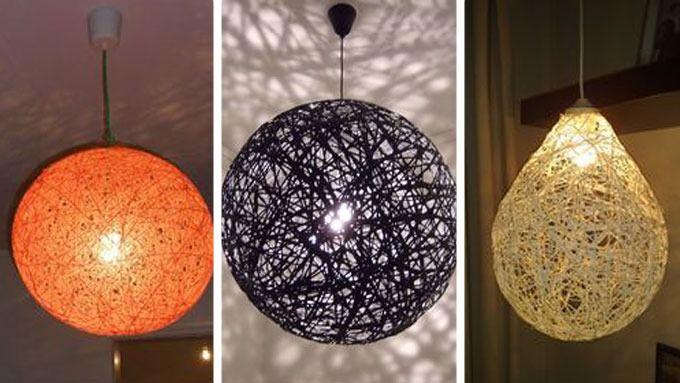 Hjemmelaget lampe