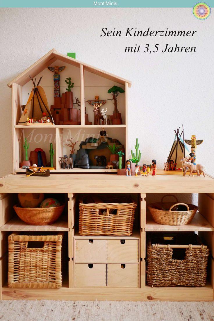 Sein Montessori Kinderzimmer mit 3,5 Jahren – Kinderzimmer Inspiration | Playroom Ideas