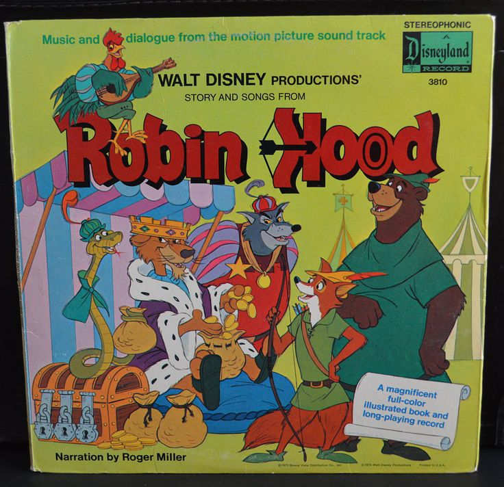 Vintage Disney Robin Hood LP, Roger Miller, Story & Songs from Robin Hood, Motion Picture Soundtrack, Illustrated Book and Long Play Record by Retrorrific on Etsy