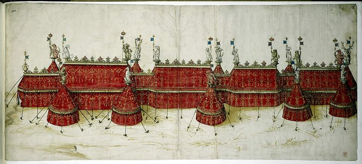 Tent design for the Field of Cloth of Gold