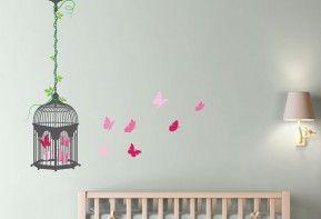 BUTTERFLIES-&-BIRDCAGE