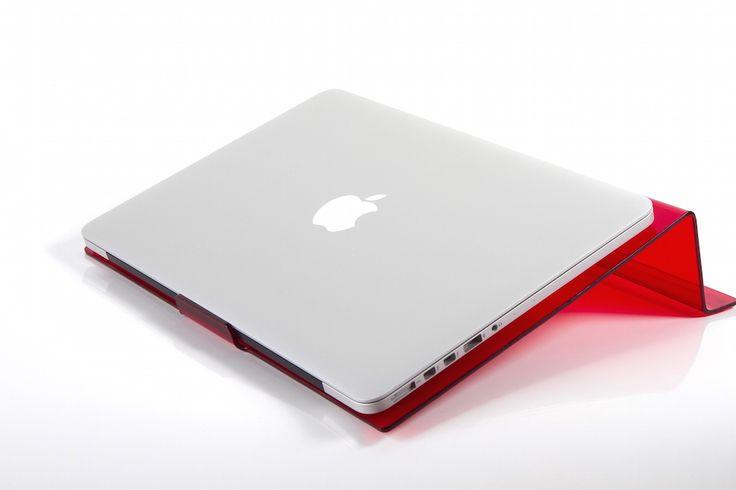 LapStop: Red | iStop Shop Ergonomic Support for your Laptop TRENDY COLOURS #designs #ergonomics #health #workspace #desk #chairs