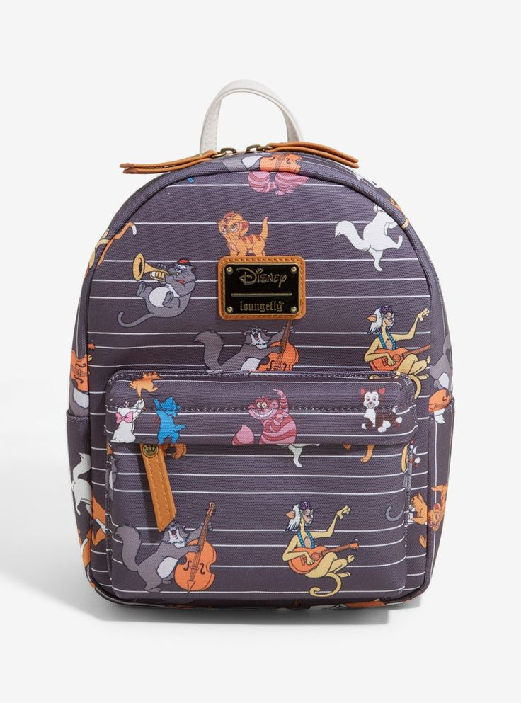 Loungefly disney cats mini backpack boxlunch exclusive