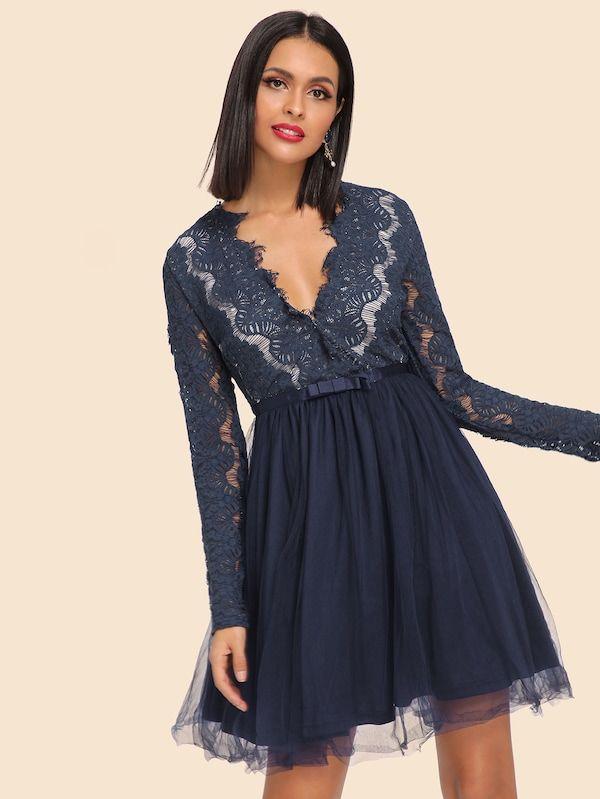 Little+Mistress+Embellished+Empire+Midi+Dress+with+Chiffon