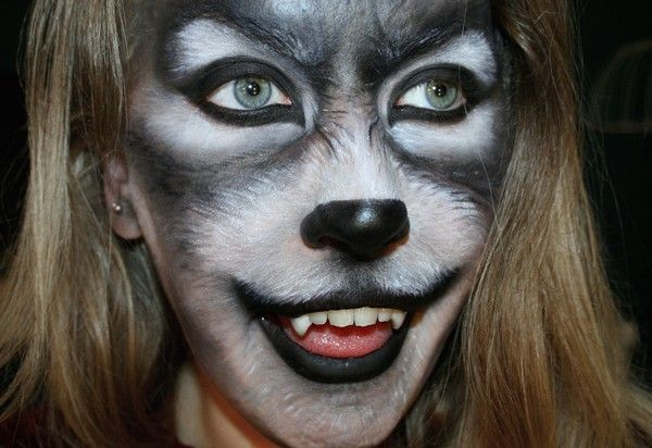 Happy Wolf by Psychosandra - http://psychosandra.blogg.se/2012/october/ lol, she has so much fun!