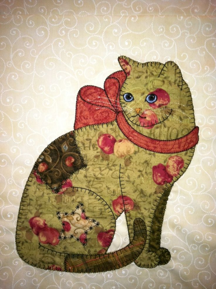 374 best Catty Quilts and Applique images on Pinterest | DIY, Baby ... : applique cat quilt patterns - Adamdwight.com