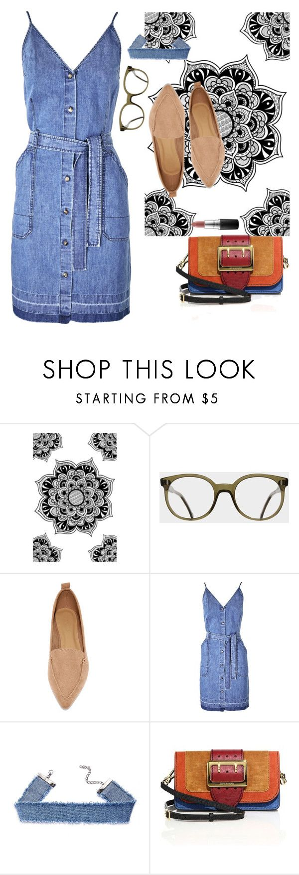"""""""Siempre"""" by chelsofly on Polyvore featuring Cutler and Gross, Bamboo, J Brand, Burberry, MAC Cosmetics, casual, always and mondaysoutfit"""