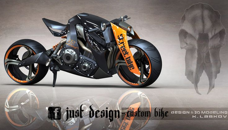 STREET Bike, I absolutely love the way they did the forks on that beast even if it's photoshoped it still bad ass