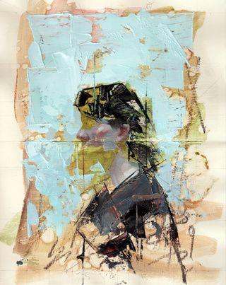 "John Wentz - ""Imprint No. 22"" - oil on Moleskine sketch book - 11"" x 8.25"" (2015)"