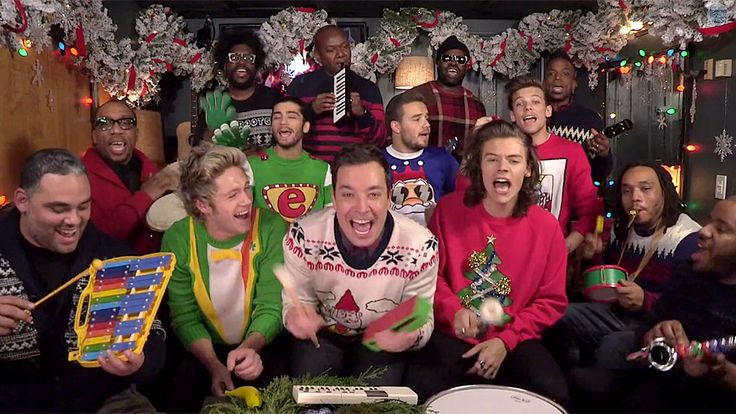 """One Direction Performs """"Santa Claus Is Coming to Town"""" with Jimmy Fallon and The Roots #InStyle"""