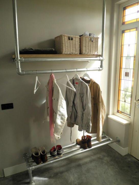 steigerhout en steigerbuis open kledingkast - Google zoeken