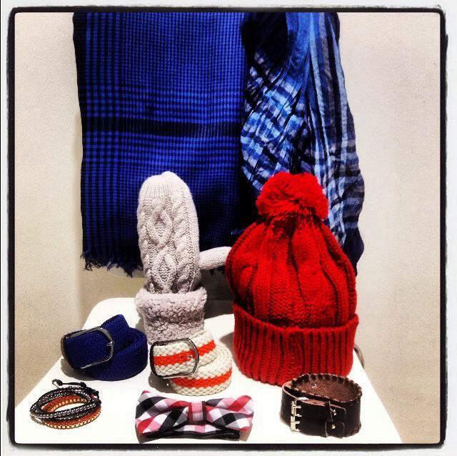Belts, scarves, winter, bow-tie