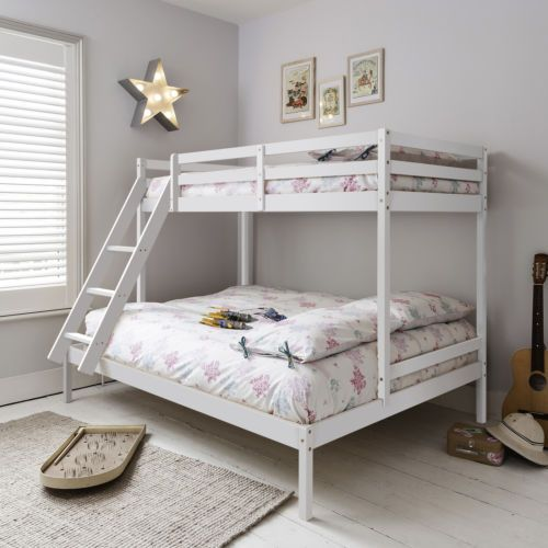 Triple-Sleeper-Bed-Bunk-Bed-in-White-Double-amp-Single-Kent