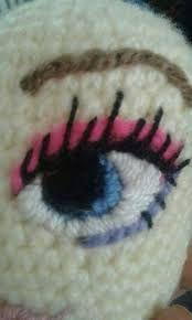 Výsledek obrázku pro como fazer olho de boneca em croche