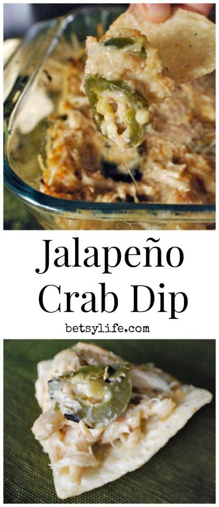 This Jalapeno Crab Dip is the best appetizer recipe ever! Great for potlucks, holidays or football watching.