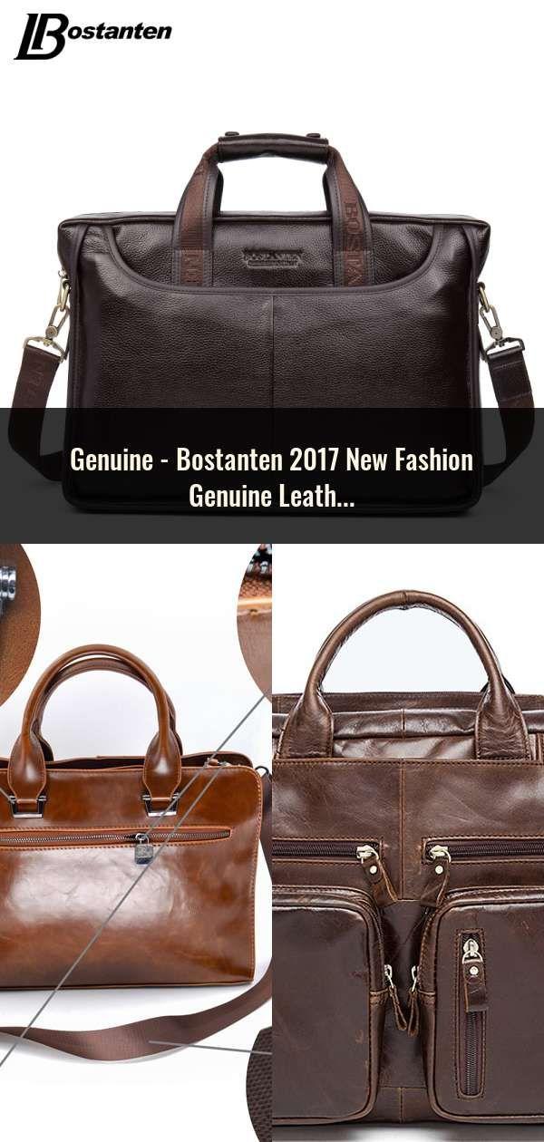 87d6a7fd6c Bostanten 2017 New Fashion Genuine Leather Men Bag Famous Brand Shoulder  Bag Messenger Bags Causal Handbag