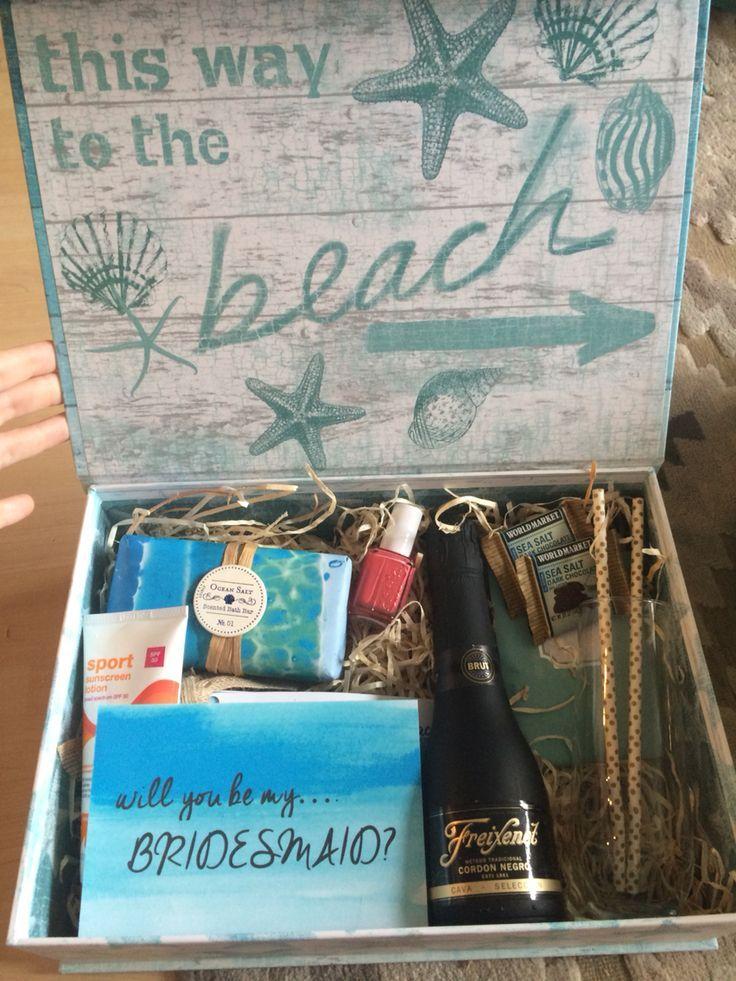 Will you be my bridesmaid? Destination wedding theme!