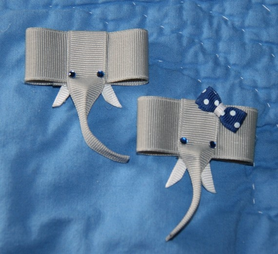 Elephant Ribbon Sculpture Hair Clip