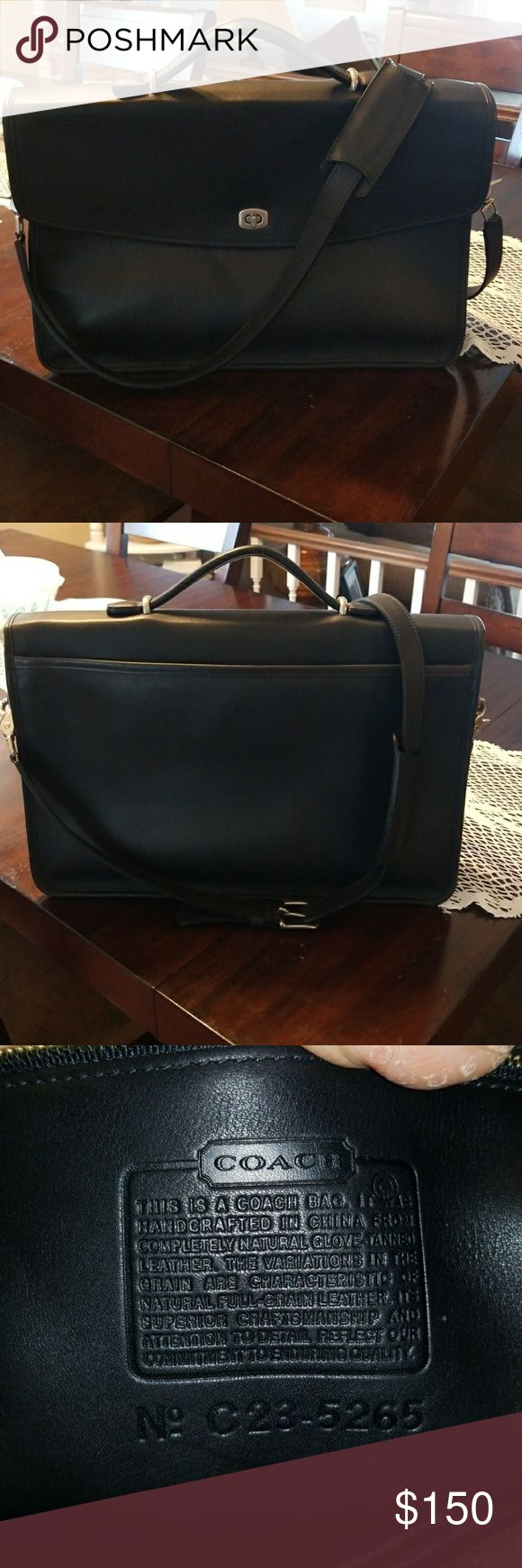 Beautiful Vintage Coach Briefcase 5265 Make an offer! Excellent Condition.  Hardware looks like it is new.  Leather is gorgeous.  Great vintage bag! Coach Bags Briefcases