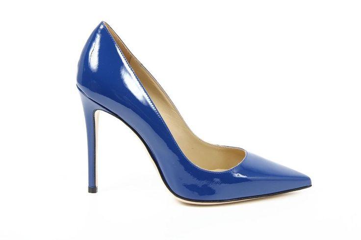 Versace Ladies Leather Pumps BLUE #Versace #Stilettos #Party