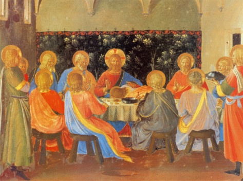 Image result for the last supper oil painting fra angelico