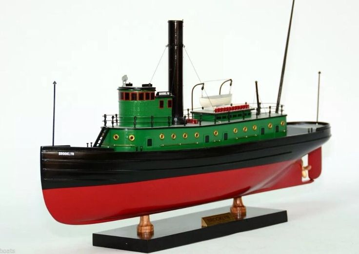 Brooklyn tugboat 1918 handcrafted wooden model tug boat for Brooklyn fishing boat