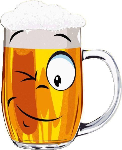 CF - verre de bière clin d'oeil - smiley émoticône clipart cartoon - téléchargement gratuit et sans inscription