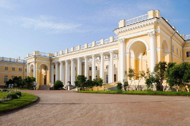 Alexander Palace in Tsarskoye Selo (Pushkin), south of St Petersburg, Russia