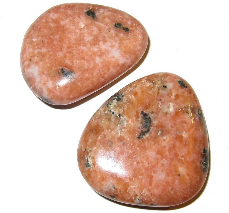 "Calcite Polished Stone Orange 02 Sexual Energy Spark Stones Mineral Set Madagascar 2"" (Gift Box)"