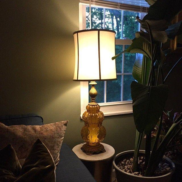Stiffel Hollywood Regency Style Solid Brass Table Lamp Carnival Glass Brass Table Lamps Table Lamp