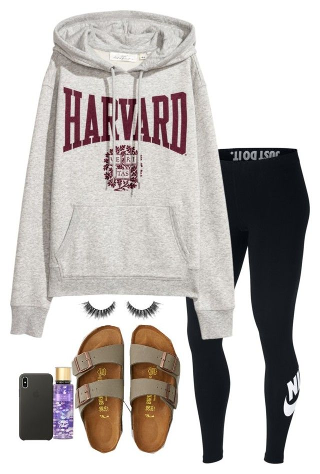"""""""No school!"""" by aribellasage on Polyvore featuring NIKE, American Eagle Outfitters, Victoria's Secret and Apple"""