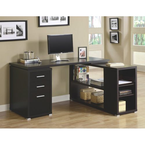 Monarch Writing Desk (I 7019) - Cappuccino. A desk to get to all that homework! #SetMeUpBBY