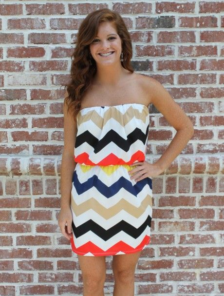 love this dressSummer Dresses, Fashion, Strapless Dresses, Chevron Dresses, Style, Cute Dresses, Chevron Pattern, Day Dresses, Chevron Prints
