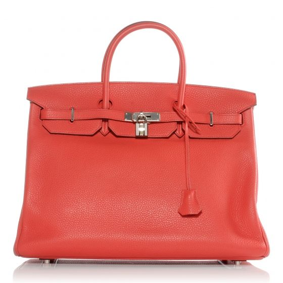 Just like the flower- breathtaking!  HERMES Taurillon Clemence Birkin 40 in Bougainvillea.