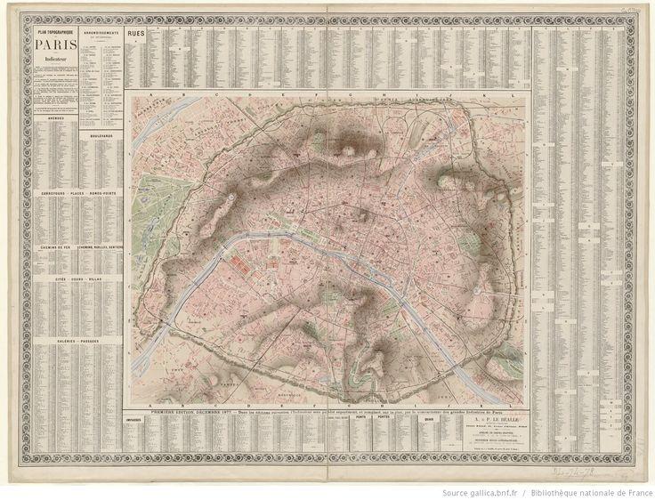 Plan topographique de Paris