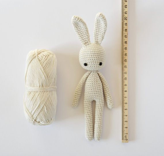 crochet pattern Angie bunny step by step US terms by CrochetObjet