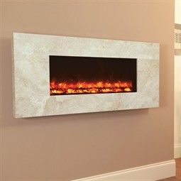 Celsi Electriflame Hang-on-the-Wall Electric Fire - Travertine