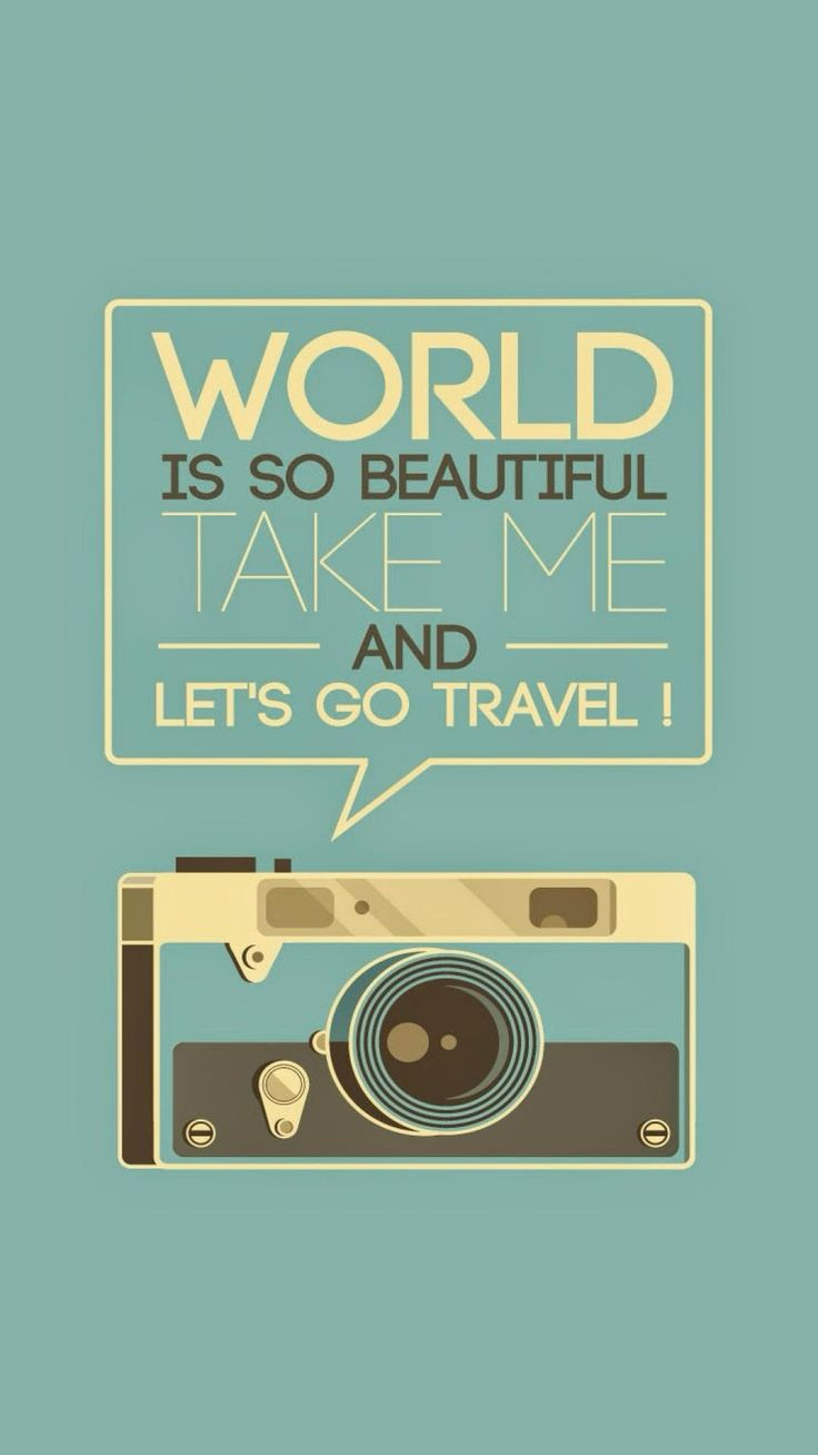 Wallpaper iphone love quotes - Travel Camera Blue Pop Vintage Poster Home Wall Art Quotes Gift Canvas Paintings