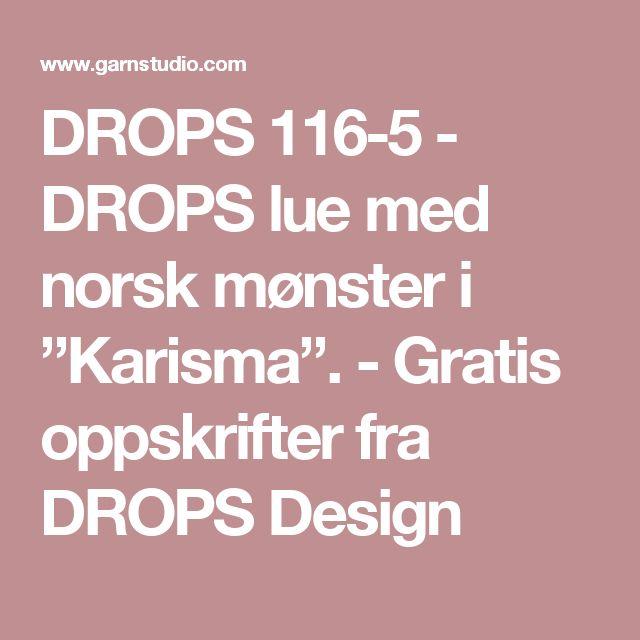"""DROPS 116-5 - DROPS lue med norsk mønster i """"Karisma"""". - Gratis oppskrifter fra DROPS Design"""
