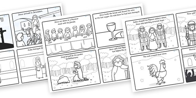 Twinkl Resources >> The Easter Story Sequencing Cards