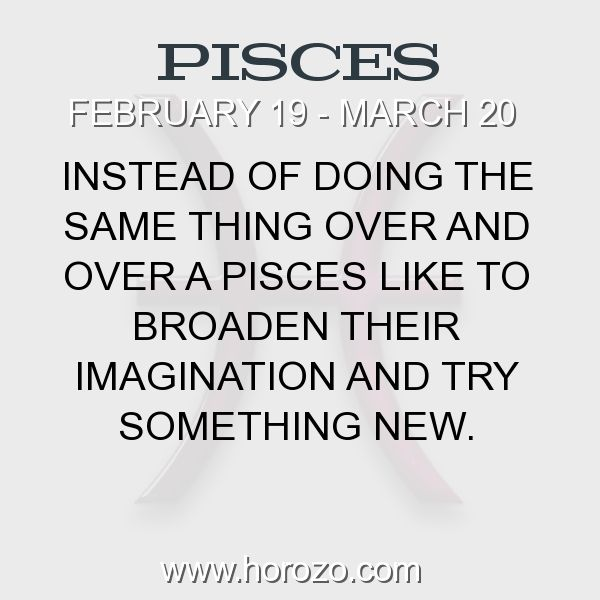 Fact about Pisces: Instead of doing the same thing over and over a Pisces... #pisces, #piscesfact, #zodiac. Pisces, Join To Our Site https://www.horozo.com You will find there Tarot Reading, Personality Test, Horoscope, Zodiac Facts And More. You can also chat with other members and play questions game. Try Now!