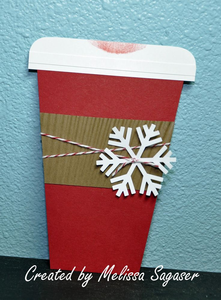 coffee cup card template | starbucks gift card holder cardstock cherry cobbler soft suede and