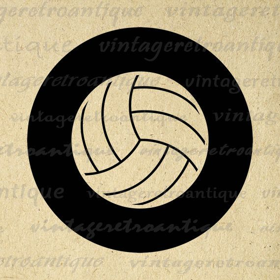 Printable Graphic Volleyball Download Sports Digital