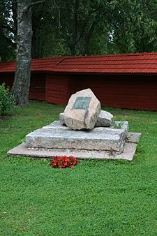 Lizelius memorial, Pöytyä, Finland. - Antti Lizelius (12 October 1708 Tyrvää - 15 October 1795 Mynämäki), Finnish priest, the vicar of Mynämäki since 1769. He was also developing Finnish written language. He was the publisher of the first Finnish newspaper, Suomenkieliset Tieto-Sanomat, in 1775-1776, and he was the language editor of two editions of the Bible.