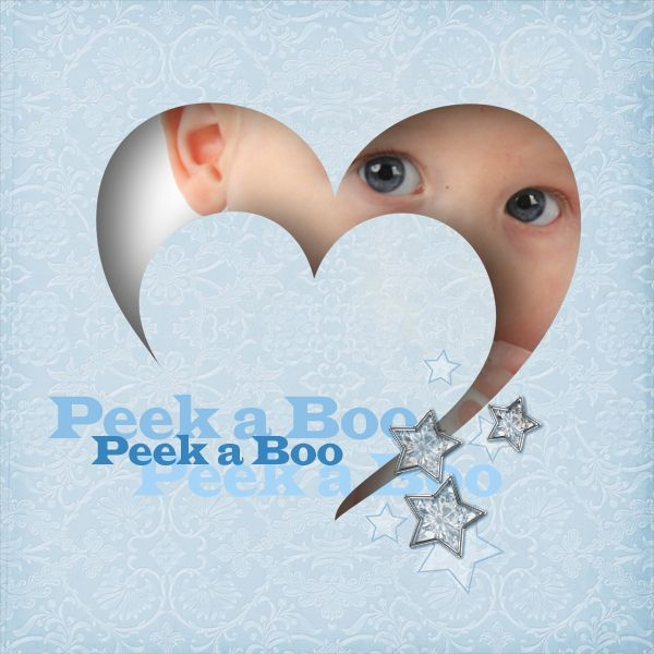 So Cute...Peek-a-Boo Heart Page...  love love this i thought i was creative but this is awesome!