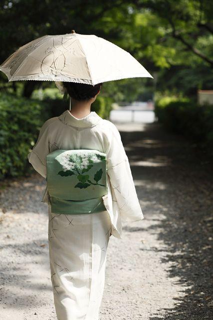 COROMOの新着アンティーク着物コーディネート-初夏のしずく