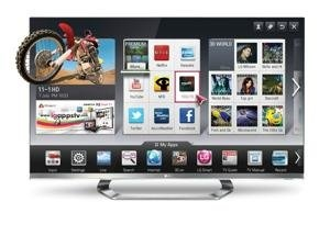 Internet + big-screen television = Smart TV... goes beyond what your current TV can do.