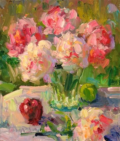 Gregory Packard. Peonies on the Table