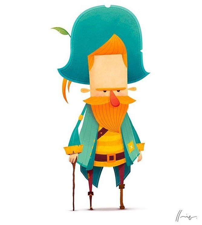 Man Pirate Cartoon Character Illustration Cartoon Character